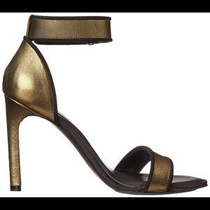 Ateljé 71 Metallic High Heel Bronze Strap Sandals